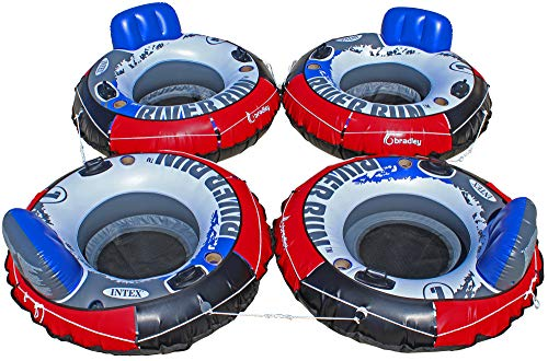 Heavy Duty River Tube Cover (4 Pack) | Compatible with Intex River Run, Bestway Rapid Rider, Inflatable River Tubes ()