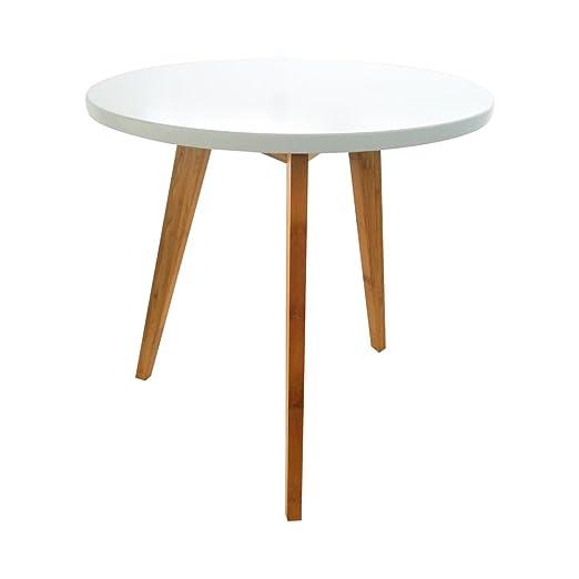 E-Goal - Mesa de Comedor de bambú Natural para Cocina, Mesa de ...