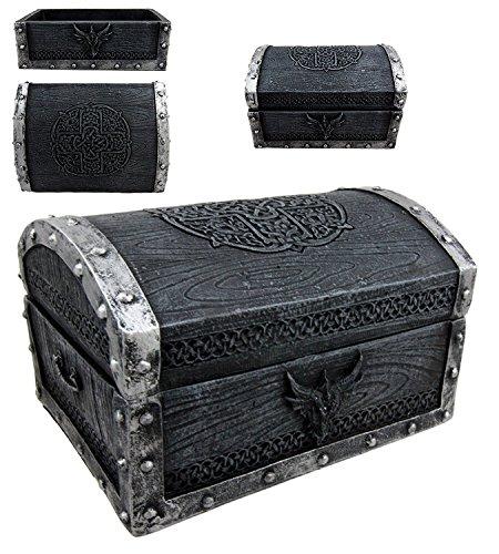 Atlantic Ebros Gift Medieval Fantasy Celtic Crest Dragon Decorative Box Figurine 4.75