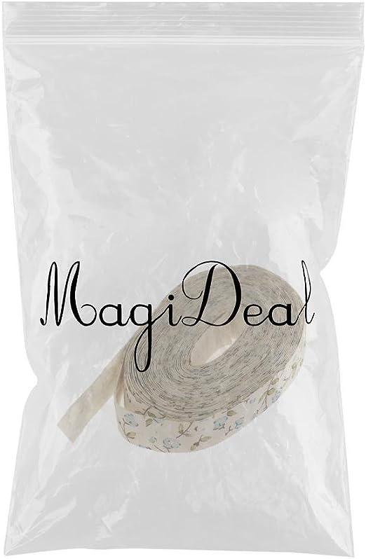 5 Yardas non-brand MagiDeal 5 Yardas Flor Impresa Tela Cinta Regalo Paquete Artesan/ía Decoraci/ón de Boda Azul
