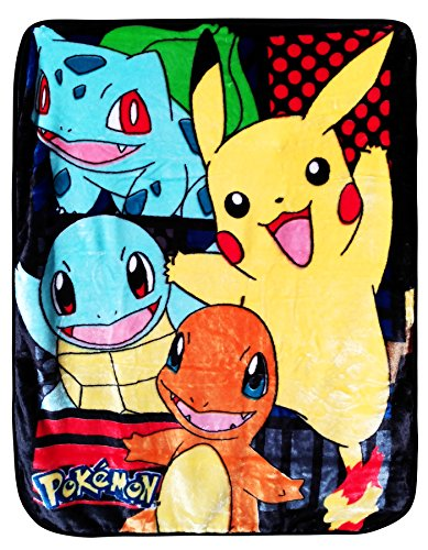 Pokemon Royal Plush Raschel Throw 40'' x 50'' Blanket Toddler Blanket New Born Fleece