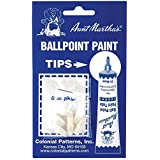 Aunt Martha's RT1 Embroidery Ballpoint Paint Tubes Replacement Tips-6/Package