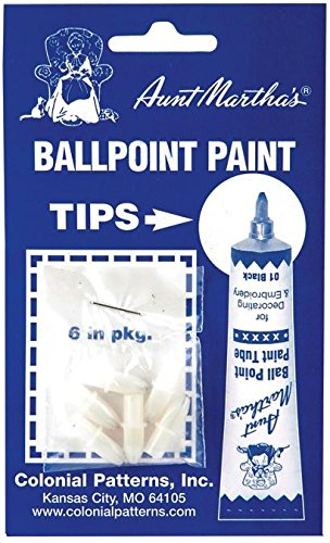 Aunt Martha's Ballpoint Paint Tubes Replacement Tips-6/Pkg Notions - In Network RT1