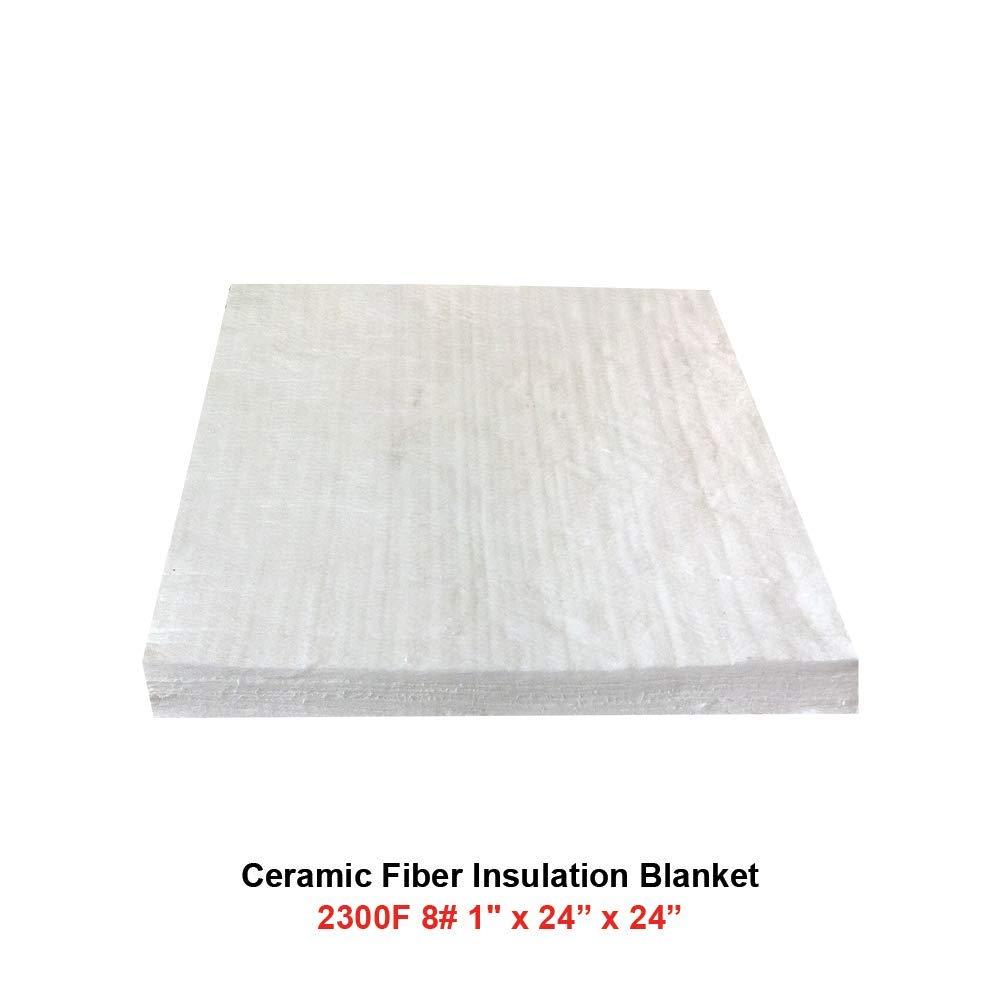 Ovens 2300F, 8# Density 1//2 x 24 x 24 Furnaces Ceramic Fiber Blanket Kilns Glass Work and Chimney Insulation