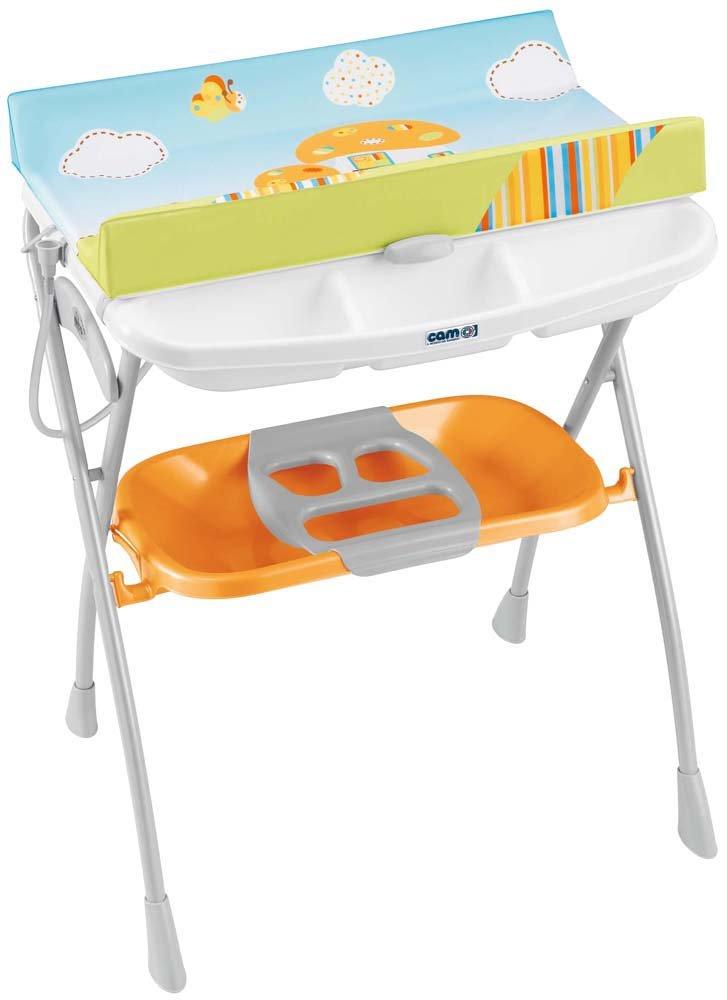 CAM Il Mondo del Bambino Wickeltisch mit Wanne, Modell: Volare, C203008 Arancione