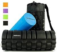 2 in 1 Deep Tissue Foam Rollers for Muscles - Trigger Point Foam Roller for Workout Pain, Cellulite, Lactic Acid & Migraines - Ideal Myofascial Release Roller, Flexor Hip Roller & Shin Splints Roller