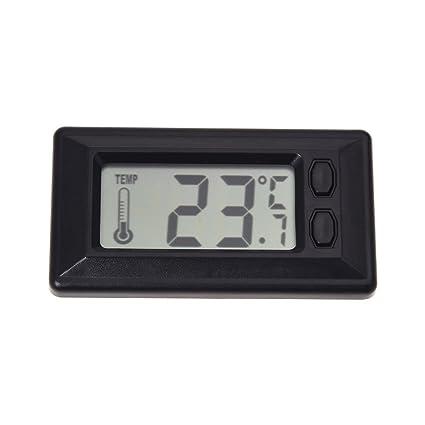 SODIAL(R) Termometro de Temperatura interior de coche con Pantalla LCD Digital