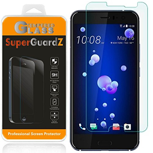 [2-Pack] HTC U11 / U 11 Screen Protector [Tempered Glass], SuperGuardZ, 9H, 0.3mm, 2.5D Round Edge, Anti-Scratch, Anti-Bubble [Lifetime Replacement]