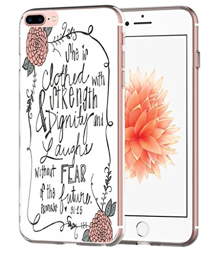 Case for 7 Plus Christian Songs - Case for 8 Plus - Topgraph [Exact Slim Fit Clear with Design Full Coverage] Bumper Compatible for iPhone 8/7 Plus [Bible Verse for Women]