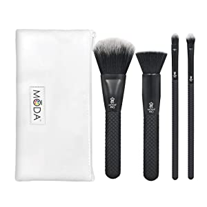 Royal Brush Moda Pro 5 Piece Set Cosmetic Complete Face Make Up Brush Kit, 0.38 Count