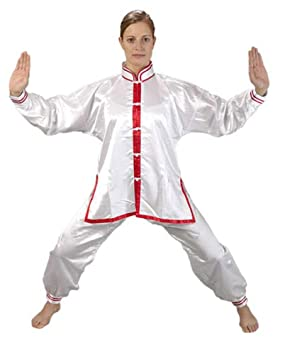 Ju-Sports Kung Fu/Tai Chi Uniform White/Red 200: Amazon co