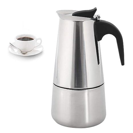 BOTTLEWISE Cafetera Espresso de Acero Inoxidable, Plateado 6 ...