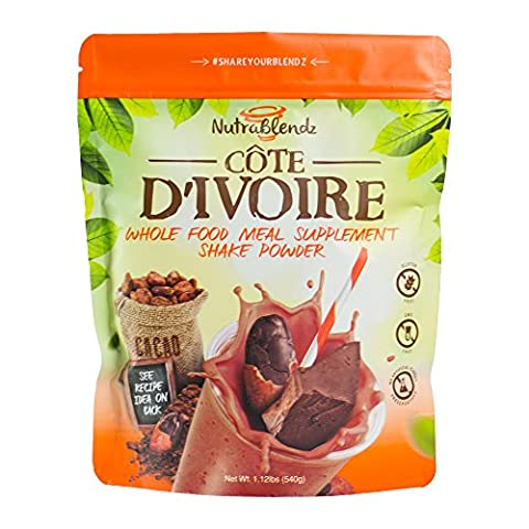 Chocolate Meal Replacement Protein Shake Whole Food . No GMO No Gluten All Natural. Multisource Protein Blend, Coconut Oil Prebiotics & - Tahitian Whole Bean Coffee