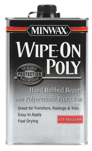 Minwax 40900 Wipe-On Poly Oil-Based Polyurethane Finish Clear Gloss, Pint by - Oil Poly