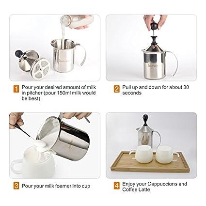Amazon.com: JoyFork - Espumadores de leche de acero ...