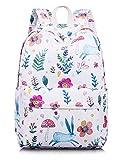School Bookbag for Girls, Cute Floral Waterproof Laptop Backpack Hiking Travel Daypack Large