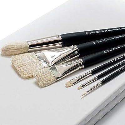 Creative Mark Pro Stroke Premium Artist White ChungKing Hog Bristle Brush - Assorted