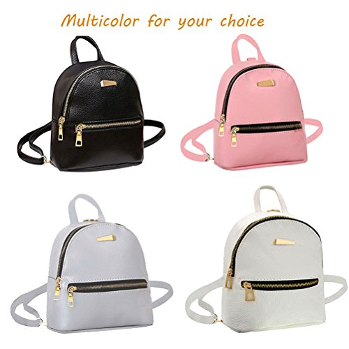 Donalworld Women Floral School Bag Travel Cute PU Leather Mini Backpack S Black3 by Donalworld (Image #6)