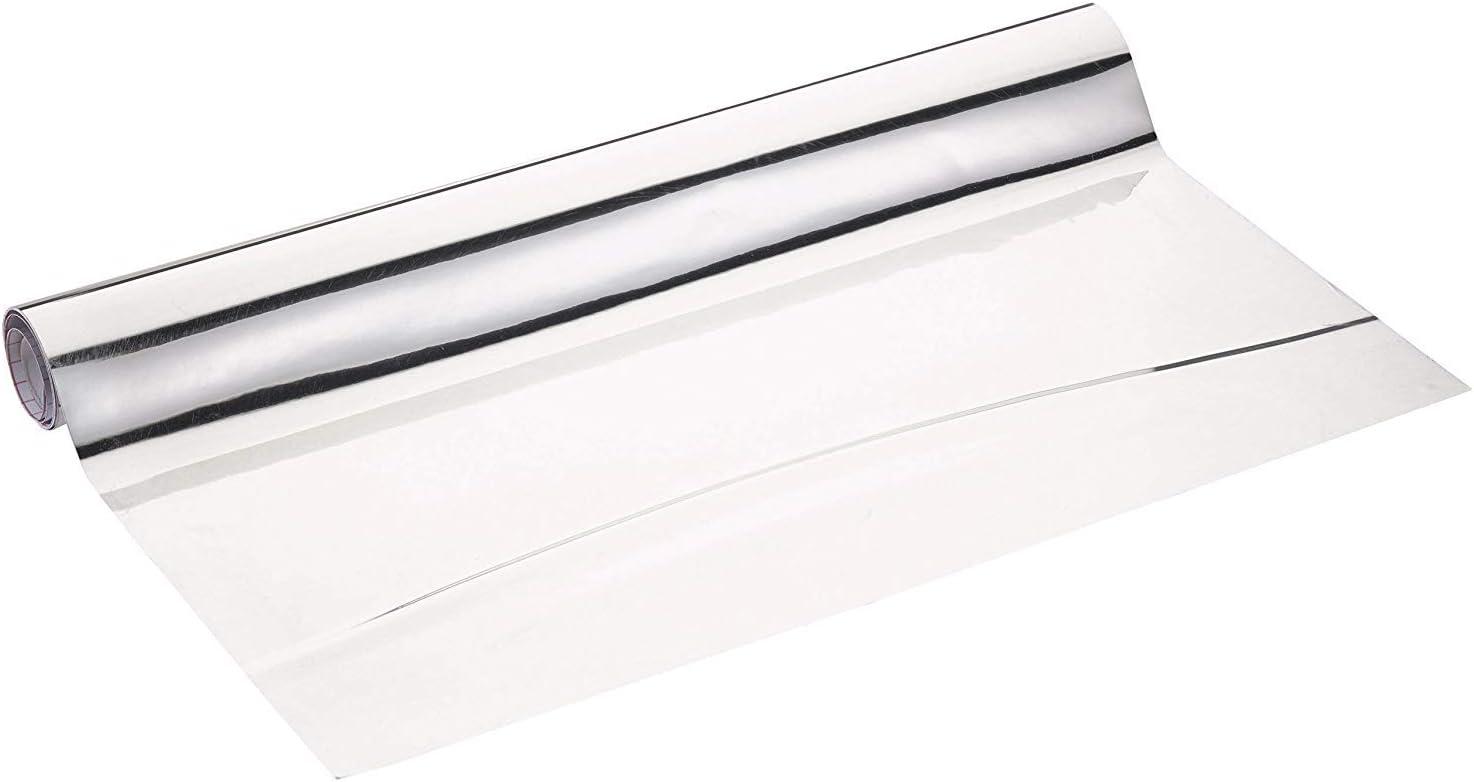 Wenko - Película de espejo, se puede cortar a medida, 58 x 150 cm, Color Plata