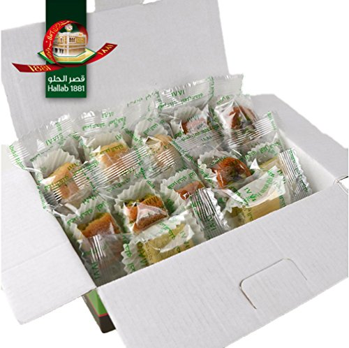 Assorted Baklava Sweets w/ Pistachio (10 Oz) : 12 pcs small cut - Imported Fresh from Lebanon - THE ORIGINAL Recipe From Middle East - Assorted Baklava Pastry Pistachios (10 Oz) (Pastry Gifts)