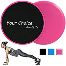 Your Choice Sliders Fitness Equipment Floor Sliders Exercise Core Gliders Gliding Discs Full Body Workout, Dual Sided Carpet Hardwood Floors, Compact Travel Home Carry Bag