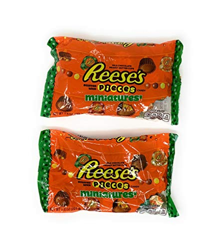 Reeses Pieces Miniatures 8oz (2 Pack) -
