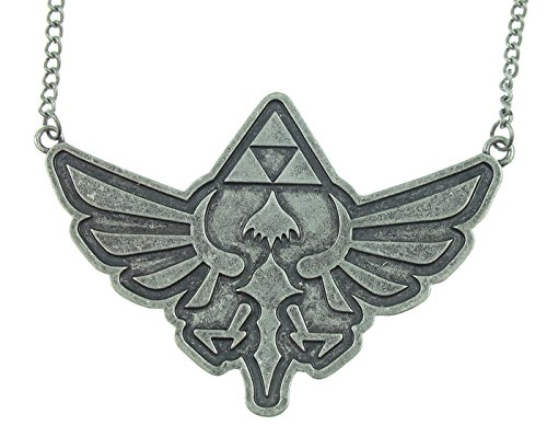 The Legend of Zelda Tirforce Large Nickel Pendant Necklace (World Of Nintendo Ganon)
