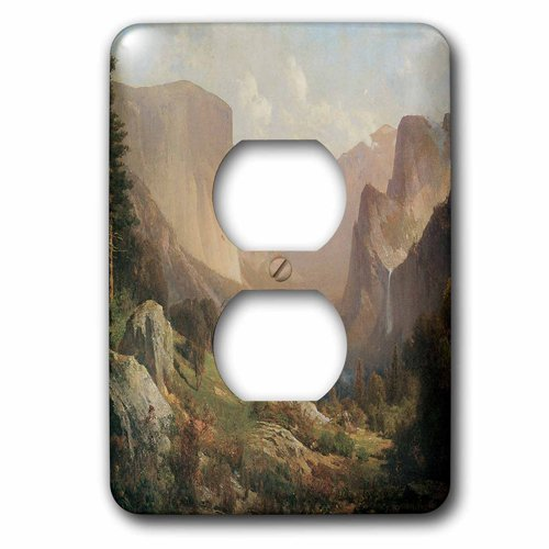 3drose LSP of_ 126704 West_ 6 View of Yosemite Yosemite Valley by Thomas Hill American West 2プラグコンセントカバー B00DNJN19C, アクセサリーショップPIENA:1bf52fdc --- number-directory.top