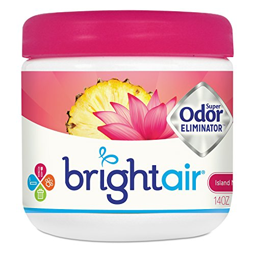 Island Nectar - BRIGHT Air 900114CT Super Odor Eliminator, Island Nectar and Pineapple, Pink, 14oz (Case of 6)