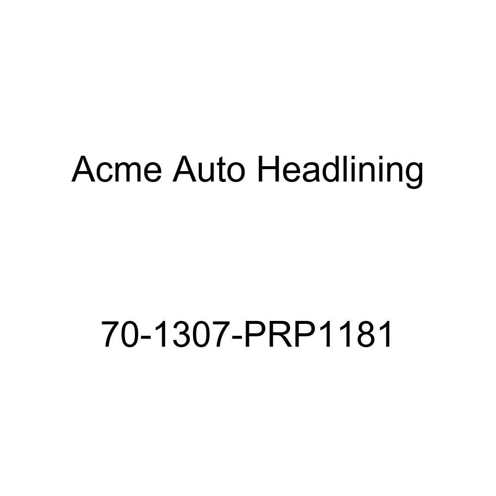 Acme Auto Headlining 70-1307-PRP1181 White Replacement Headliner 6 Bow 1970 Cadillac DeVille 4 Dr Sedan w//Post