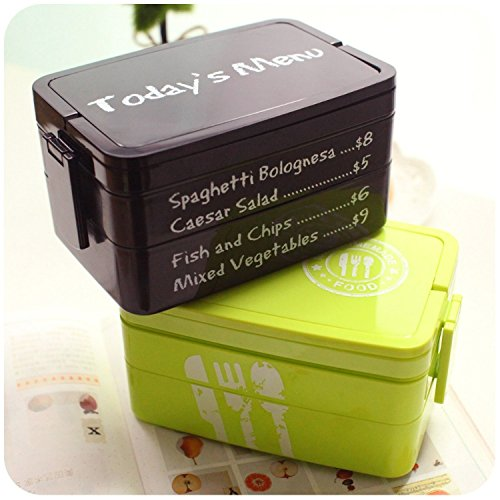 Lunch Bento Box Plastic Food Container Cute And Durable, Easy To Clean Outdoor Portable Containers For Kids School Office