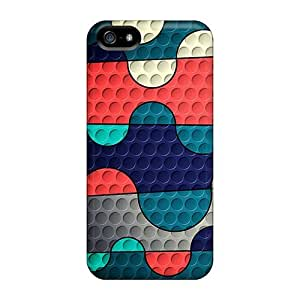 Hot Snap-on Colored Squiggles Hard Cover Case/ Protective Case For Iphone 5/5s