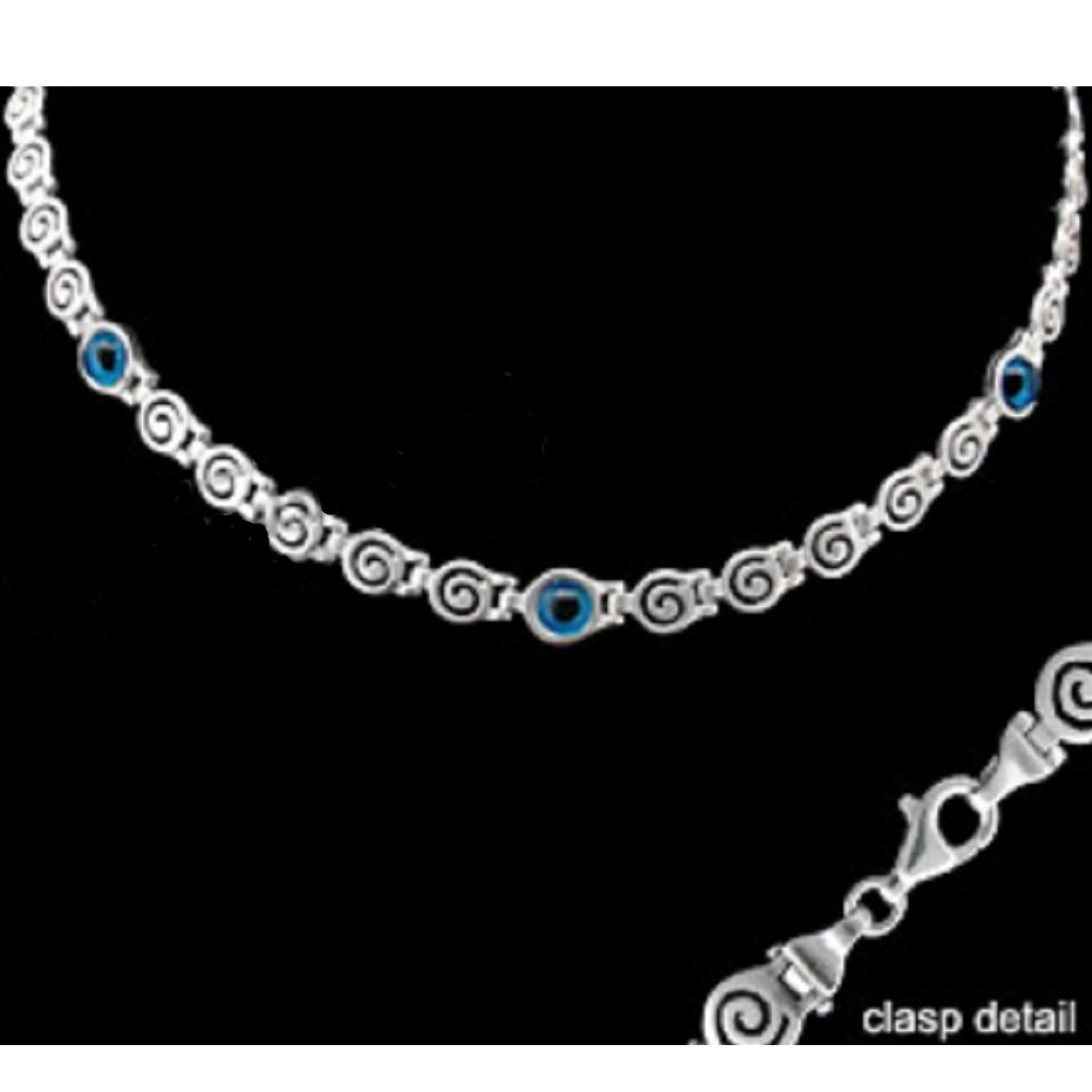 Amazon com: Greek Sterling Silver Mati Collection - Necklace