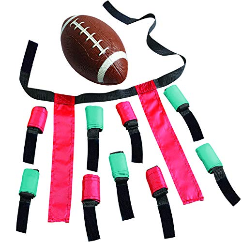 (The Black Series Flag Football Set with Gear for 10 Players, Mini Ball and Flags for 5-on-5 Games, Classic Outdoor Sport, Fun for Friends and Family at Picnics and Parks, Team Sports Activity)