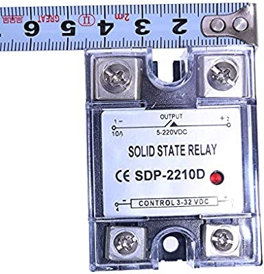 Holdwell Solid State Relay SSR DC-DC 10A 3-32VDC//5-220VDC 10A Replace Crydom D1D12//D2D12