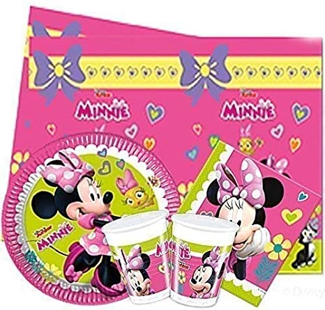 Wow Disney Minnie Mouse Complete Party Pack Vajilla para 16: Amazon.es: Juguetes y juegos