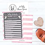 25 Pink Elephant Baby Shower Games Ideas for Girls, Fun Party Activities Who Knows Mommy Best Gender Neutral New Parent Guessing Funny Questions Bundle Kids, Mom, Dad and Coed Couples Little Peanut