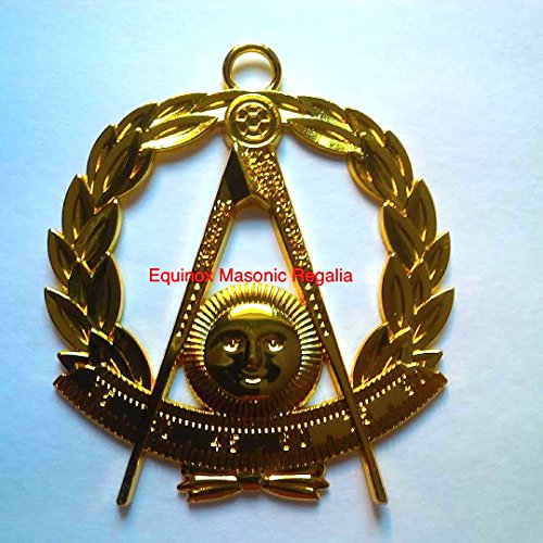 Delux G Past Master Jewel with wreath for Chain Collar