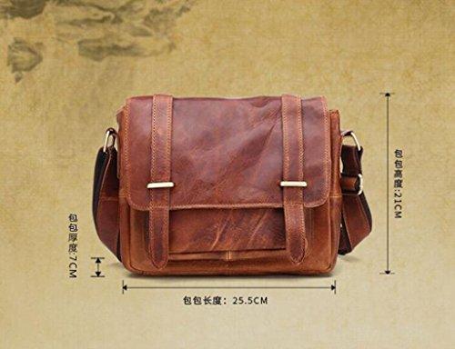Briefcases Bags Large 3 Men's Shoulder 1 Capacity Messenger Sucastle Vintage Design Leather f67xq