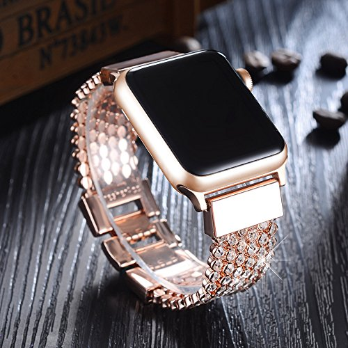 steel sport jewelry bands stainless product wristband bling for apple diamond replacement band iwatch watch