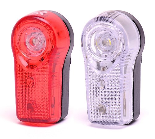 Retrospec Bicycles Denali-3 Ultra Bright 3 LED Urban Commuter Bike Headlight and Taillight Combo