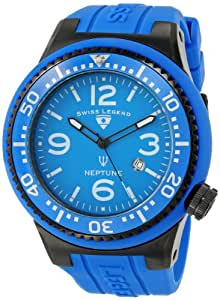 Swiss Legend Men's 21818S-C-K Neptune Blue Dial Watch with Silicone Band