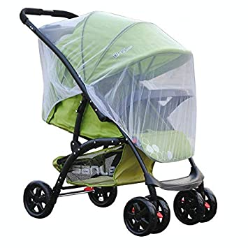 Carriers Car Seats Foldable Two-Way Zippered Mesh Mosquito Net Stroller Accessories BaofuFacai Mosquito Net Stroller Crib,Child Carrier Carriage Netting Mesh Protection for Strollers