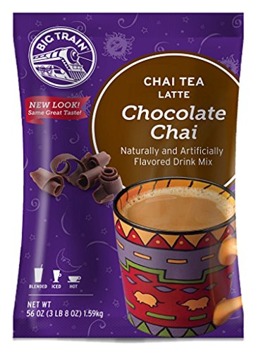 Big Train Chai Tea Latte, Chocolate, 3.5 Pound, Powdered Instant Chai Tea Latte Mix, Spiced Black Tea with Milk, For Home, Café, Coffee Shop, Restaurant Use ()
