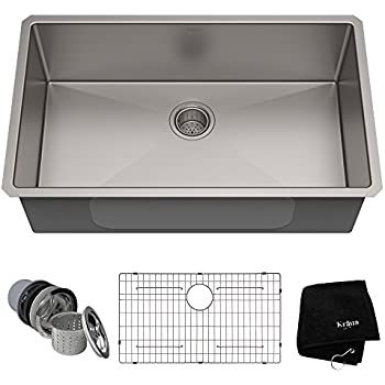 Kraus Standart PRO 32-inch 16 Gauge Undermount Single Bowl Stainless ...