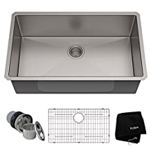 Kraus KHU100-32 32 inch Undermount Single Bowl 16 gauge Stainless Steel Kitchen Sink