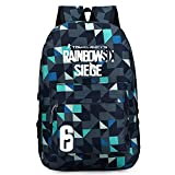Rainbow Six Logo Oxford Backpack Black School Bag (#4)