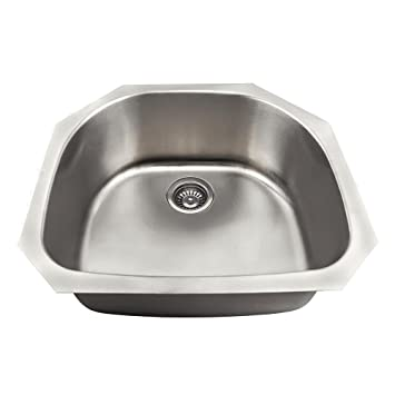 US1042 18 Gauge Undermount D Bowl Stainless Steel Kitchen Sink