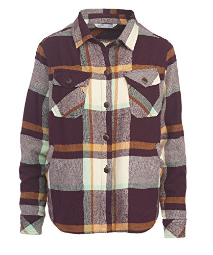 Woolrich Women's Oxbow Bend Chunky-Flannel Shirt, Wine Pl...