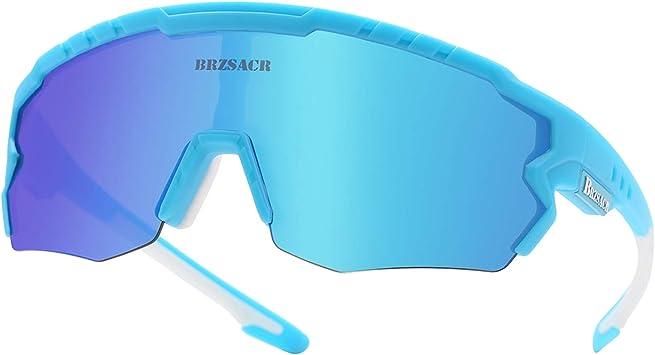 ACS1986 Gafas De Sol Polarizadas para Ciclismo, UV 400 Protección Gafas Deportivas Polarizadascon 3 Lentes Intercambiables UV400 MTB Bicicleta Montaña para Hombre Mujer 2019 Nuevo. (Azul): Amazon.es: Deportes y aire libre